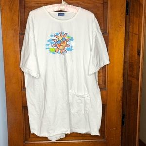 Tops - My Town Sunshine beach t shirt with pocket OSFM